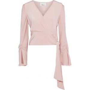 PHILLIP LIM crepe wrap effect blouse